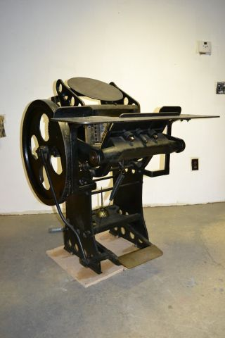 Rare Ca.  1890 Kelsey Ok Jobber Letterpress Printing Press 9