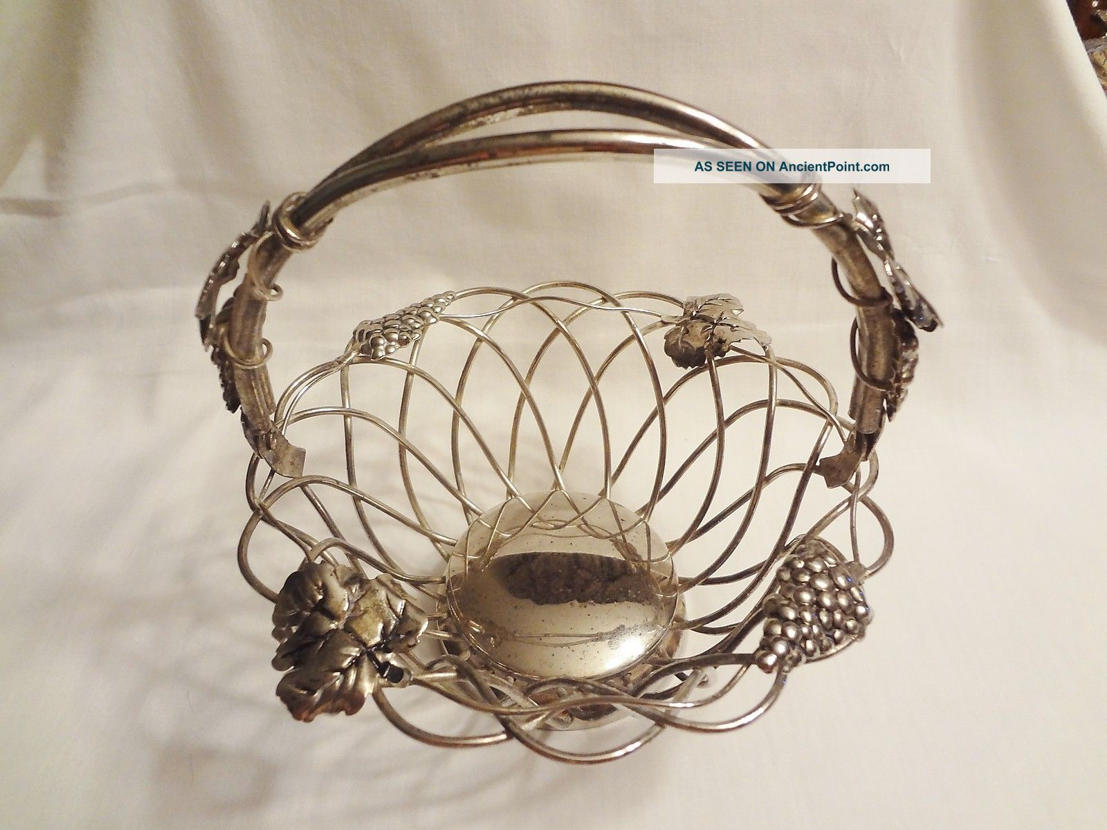 Godinger Silver Basket W/ Hinged Handle 7 1/2