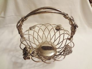 Godinger Silver Basket W/ Hinged Handle 7 1/2