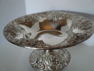 Kirk & Co.  Sterling Repousse Pedestal Bowl Tazza 297 photo