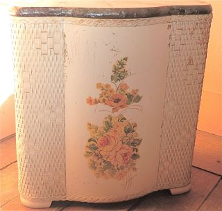 Antique Laundry Hamper Circa 1940 ' S photo