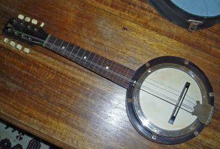 C1930 Maxitone By C.  Bruno & Son N.  Y.  Usa 8 X Stringed Banjo Ukulele With Case photo