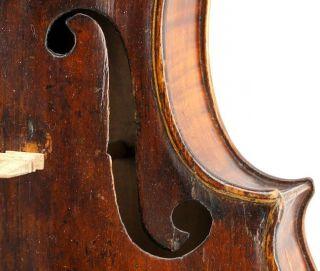 Old Antique Mittenwald Violin C.  1790 - Very Dark,  Very Loud,  Rich Sound photo