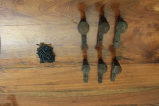 6 Rustic Railroad Spike Handle Or Door Knob Vintage Old Antique photo