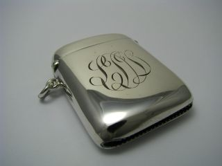 Sterling Silver Match Safe Vesta Case Box By Charles Lyster & Son England Ca1910 photo