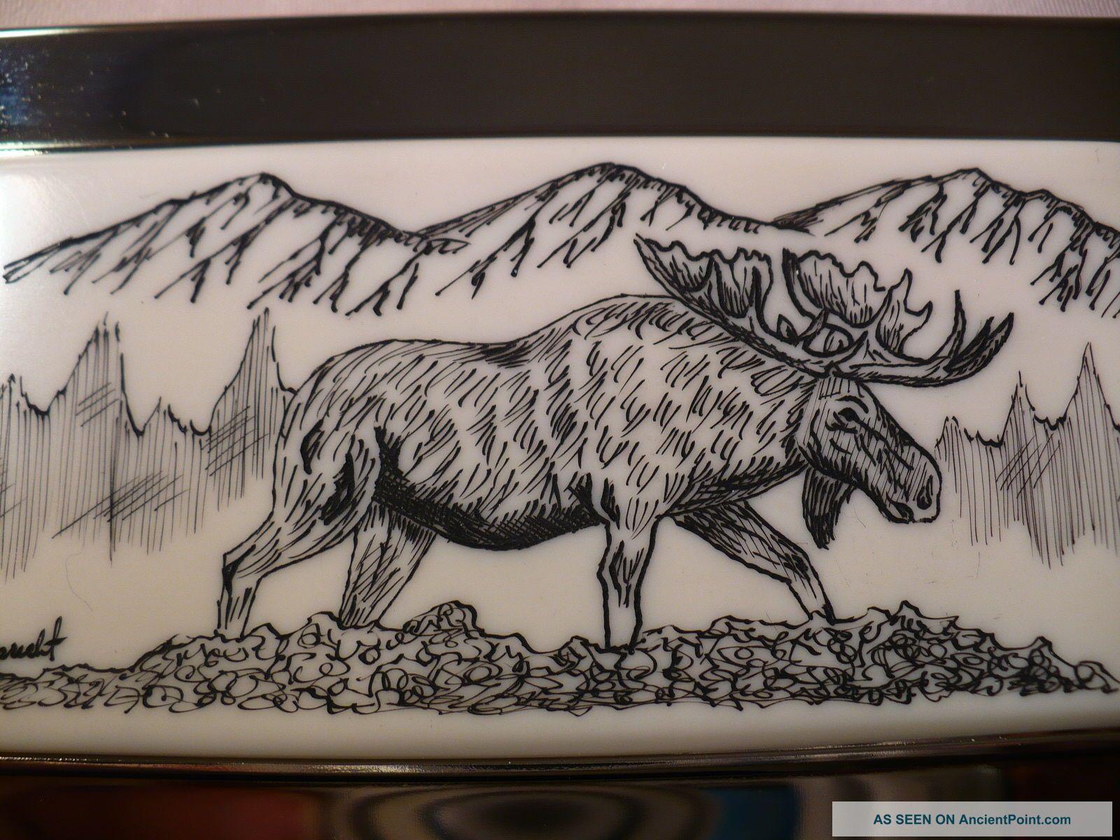 Business card holder resin inlay moose colourmoves