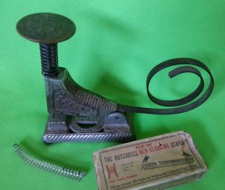 Rare Antique Hotchkiss National Cash Register No.  1 Stapler (c.  1896) photo