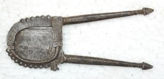 1800s Antique Fine Hand Forged Engraved Iron Betel Nut Cutter photo