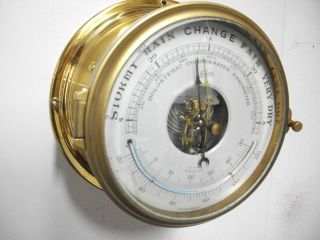 Vintage Schatz Mariner Barometer Ships Clock Working photo