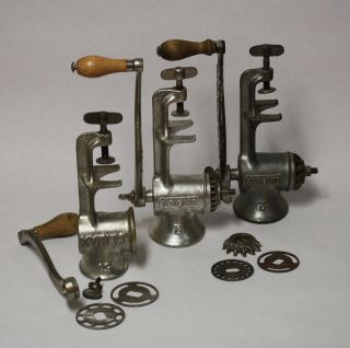 Vintage Climax 51 And Universal Meat Grinders 2 And Accessories photo