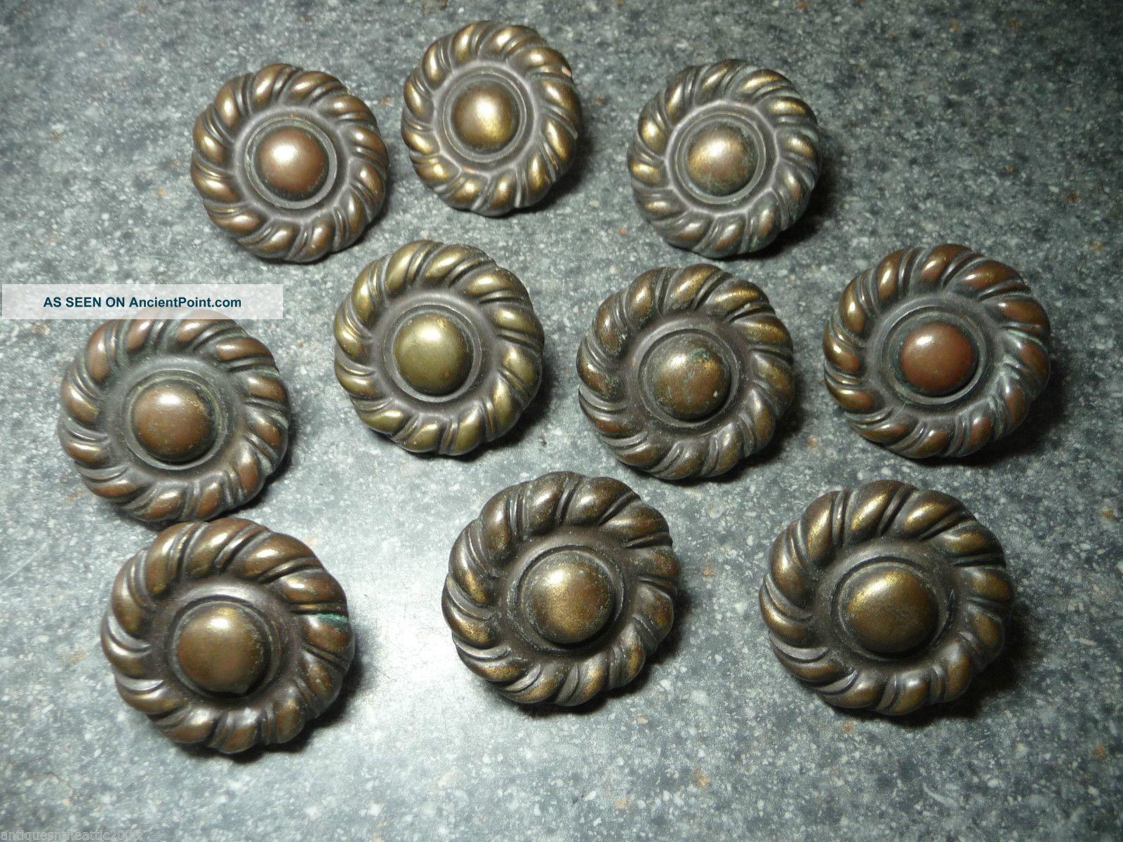 Antique Door Handle BB Rosettes Door Knobs Brass Nickel Knob Set R1NM