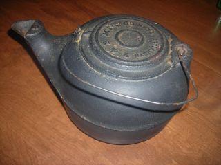 Antique Cast Iron Kettle 1880 P & B Manufacturing Nashville Tn 8 photo