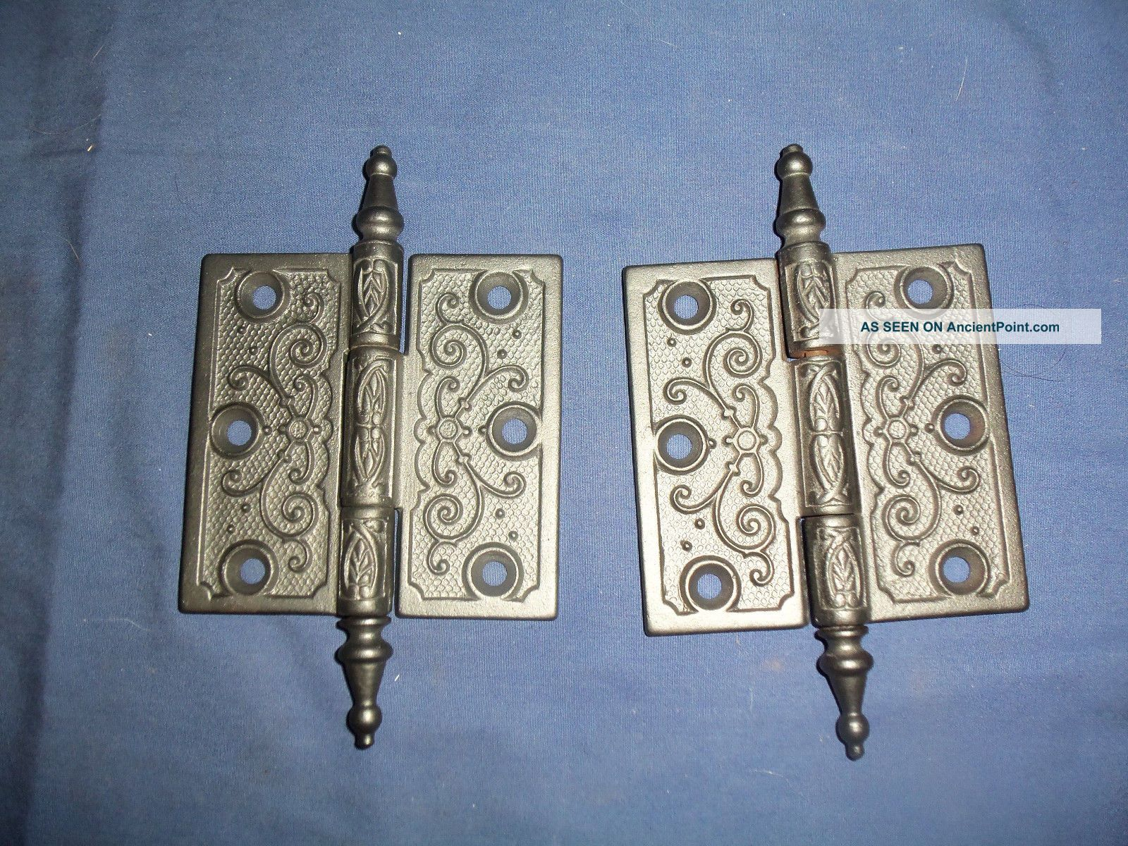 2 antique door hinges 3 1