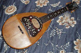 Antique C1930 Fratelli Bellini 8 String Mandolin Banjo Fabbrica Italian Napoli photo