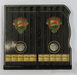 Rare Antique Harpeleik Zither - 1871 Munich Walzerklangh - Folding - Excellent photo
