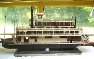 Shipbuilders Model - 1860 ' S Handmade 4deck Steamengine Paddlewheeler - Maker Unknown photo