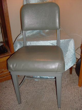 Vtg Mid Century Industrial Age Metal Office Chair Goverment Service ' S Federal So photo