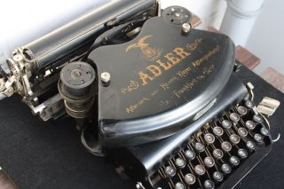 Antique Typewriter Adler No.  7 Schreibmaschine  1900 ' S photo