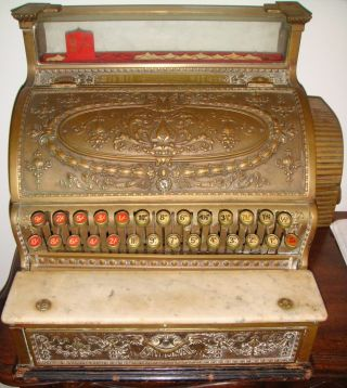 Great Antique 1903 National Cash Register - Rare British Export Model - Working photo