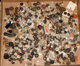 1100+ Antique Buttons In Large Mason ' S Jar (nov.  30,  1858) photo