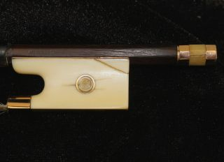 Gorgeous Antique French Violin Bow - Charles Bazin - Gold Mounted - photo