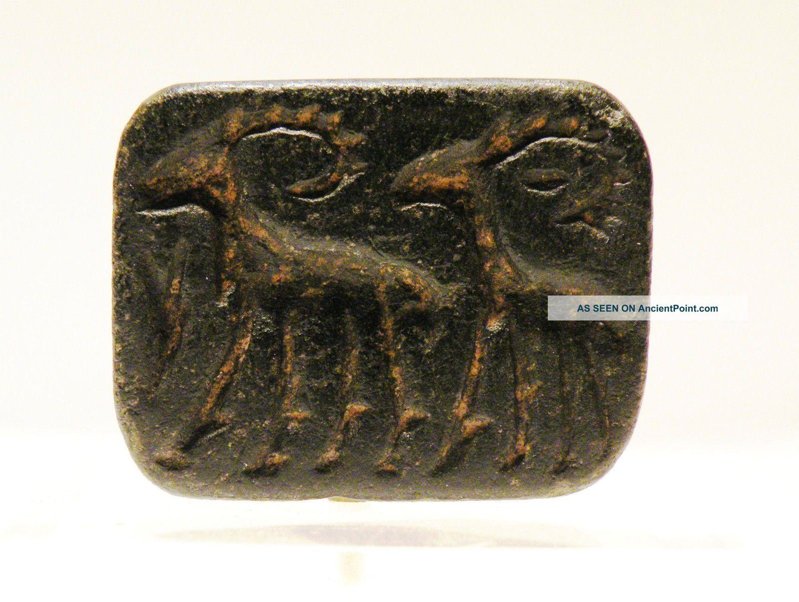 Anatolian Neolithic Steatite Seal,  5th - 4th Millennium B.  C. Near Eastern photo