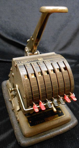 Vintage Lighting Check Writer Sold By Check Write Company Inc Broadway St N.  Y. photo