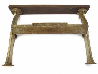 Antique Old Cast Iron Wood Counter Mount The Wright 12 Butcher Paper Cutter Tool photo