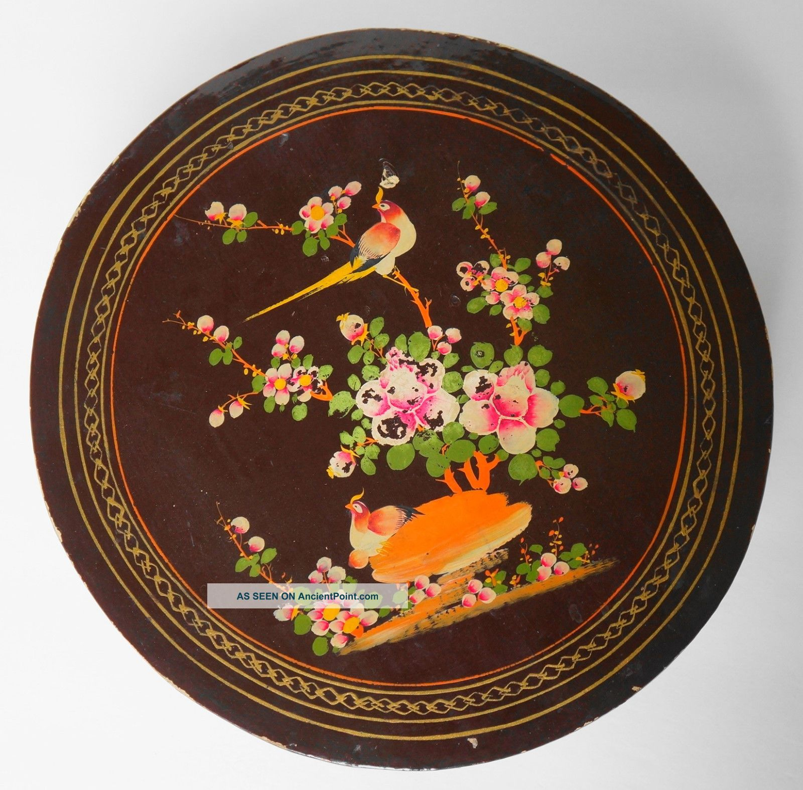 Qing Dynasty Estate Anitque Chinese Hand Painted Lacquer Dividers Wooden Box Boxes photo