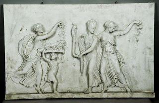 Wonderful Antique Mythological Stucco Wall Relief Ca.  1900 photo