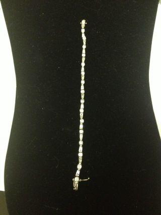 Sterling Silver Zirconia Bracelet photo