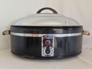 Vintage Norge Antique Electric Oven Turkey Roaster Slow Cooker Ooak Borg Warner photo