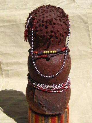 Very Rare African Mwali Gourd Doll Tongo/yao People,  Zimbabwe/ Fertility Figure photo