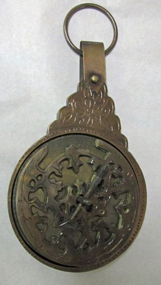 Brass Antiqued 4in Astrolabe Astrolab photo