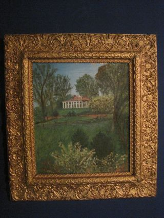 Rare Signed Plantation Mansion Estate Painting Mt.  Vernon Va Virgina photo