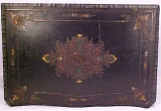 Antique Sewing Work Box Victorian Wood Casket Inlay Eastlake Mirror Scarce photo