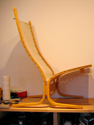 Westnofa Siesta Chair By Ingmar Relling Made In Norway Beech Frame photo
