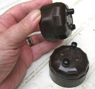 Rare Very Unusual Vintage 250v 6a Bakelite Push Button Light Switches 2 - Way photo