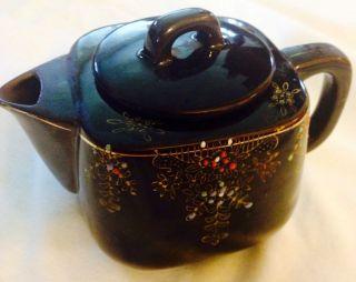 Antique Redware Ceramic Teapot With Lid Circa 1940 ' S photo