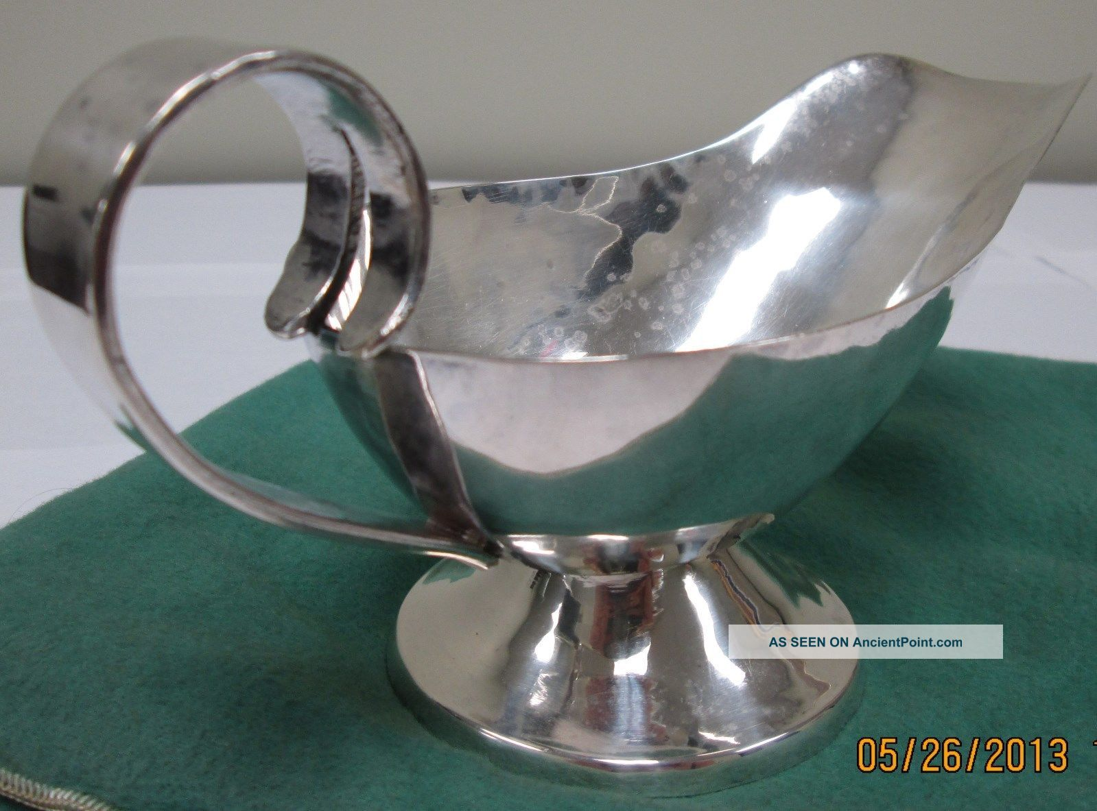 Antique Sterling Silver Gravy Boat Sauce Boats photo