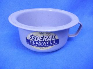 Vintage Federal Porcelain Enamel Child ' S Chamber Pot (federal Enameling Usa) photo