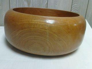 Vintage Huge Wooden Bowl Salad Bowl Chip Bowl Heavy photo