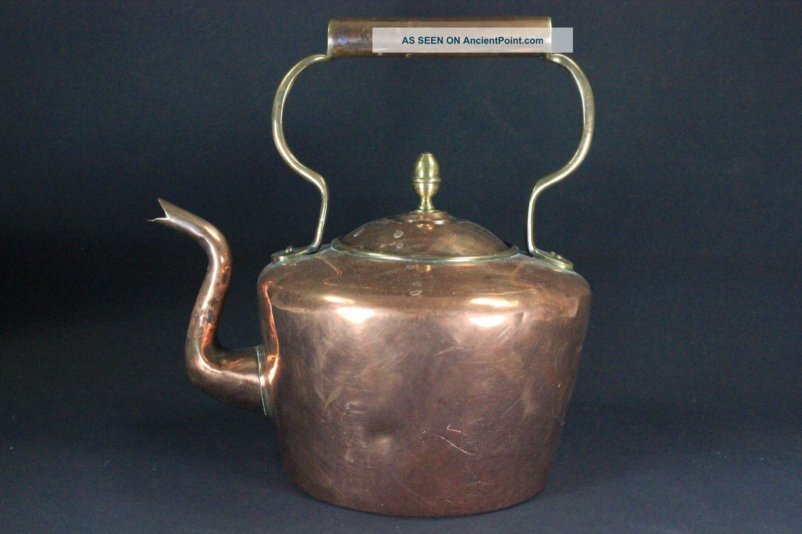 Antique Large Georgian Copper & Brass Kettle C.  1820 Uncategorized photo