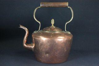 Antique Large Georgian Copper & Brass Kettle C.  1820 photo