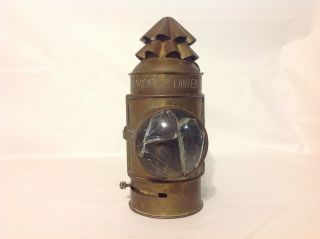 Antique Metal Brass Navigator ' S Nautical Lighting Lamp Lantern - Parts - Steam Punk photo