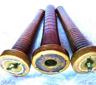 Vintage Thread Yarn Spools Vintage Industrial Sew Bobbins Vintage Wood Bobbins photo