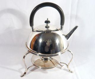 Art Deco 1925 Mappin Webb Silver Plate Spirit Kettle Tea Pot Christopher Dresser photo