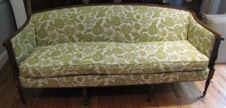 Hickory Chair Co Mahogany Sheraton Sofa James River photo