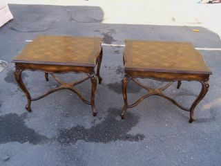 49546 Pair Quality French Country Lamp Table Stand S photo