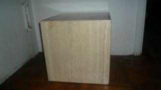 Rare Marble Cube Travertine Modern Eames Table photo